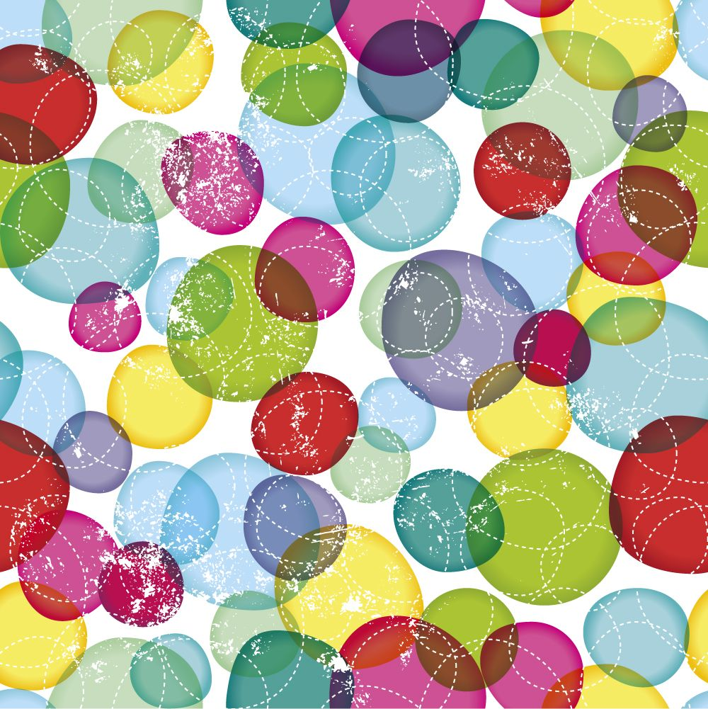 Seamless Round Bubbles Kids Pattern In