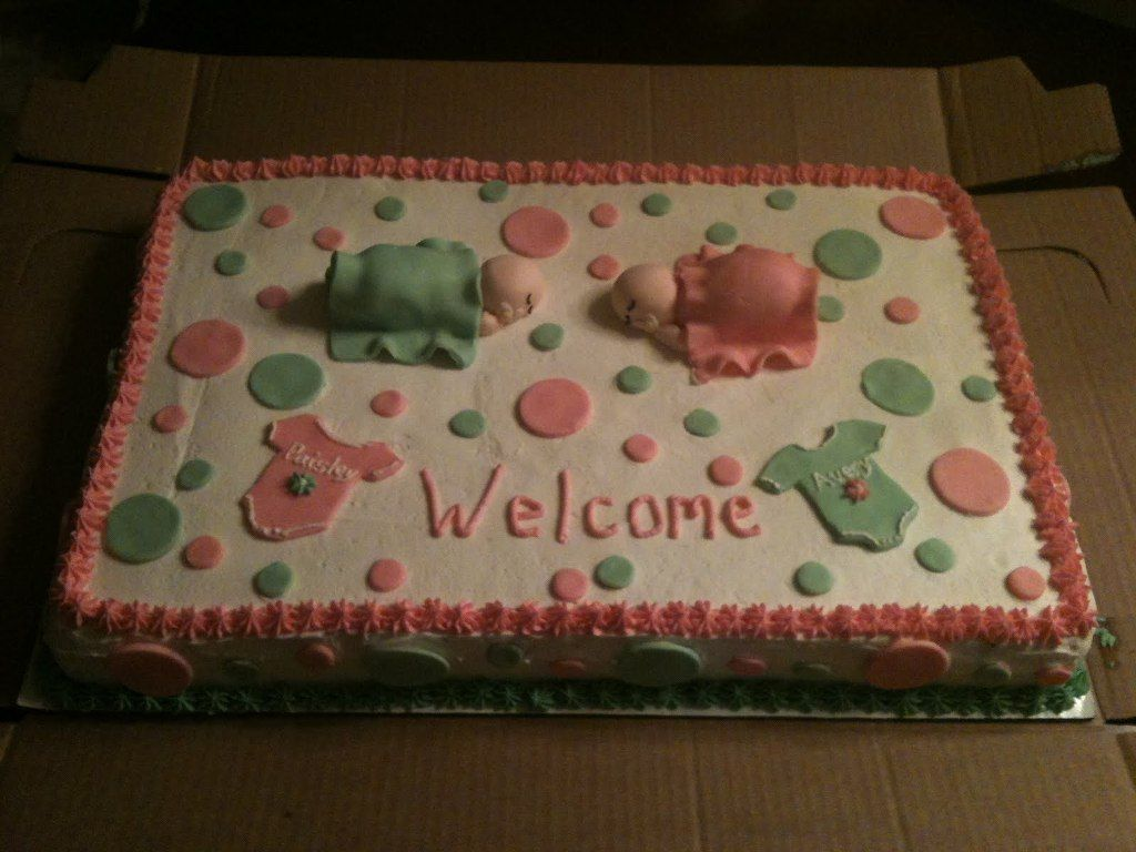 Baby Shower Cake Ideas For Twin Boy And Girl