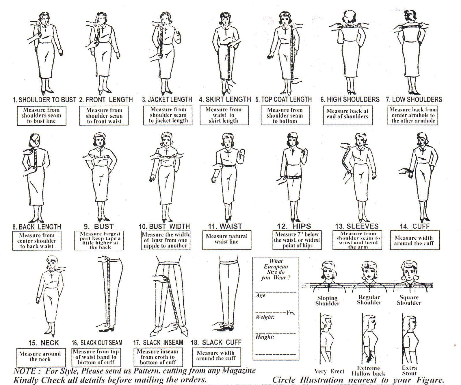 Tailored Suit Measurements S