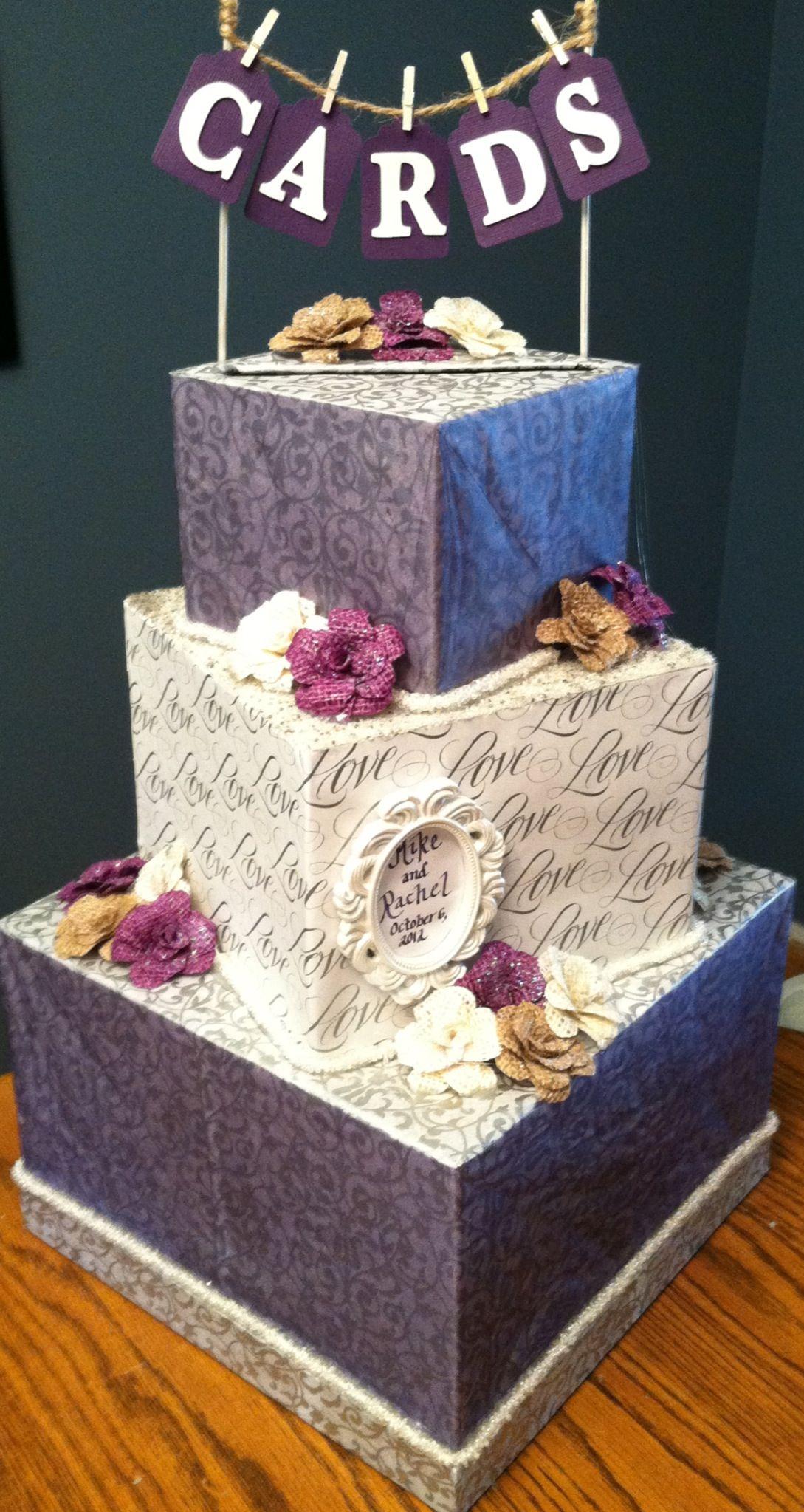 DIY wedding card box! Will be doing it my colors Wedding