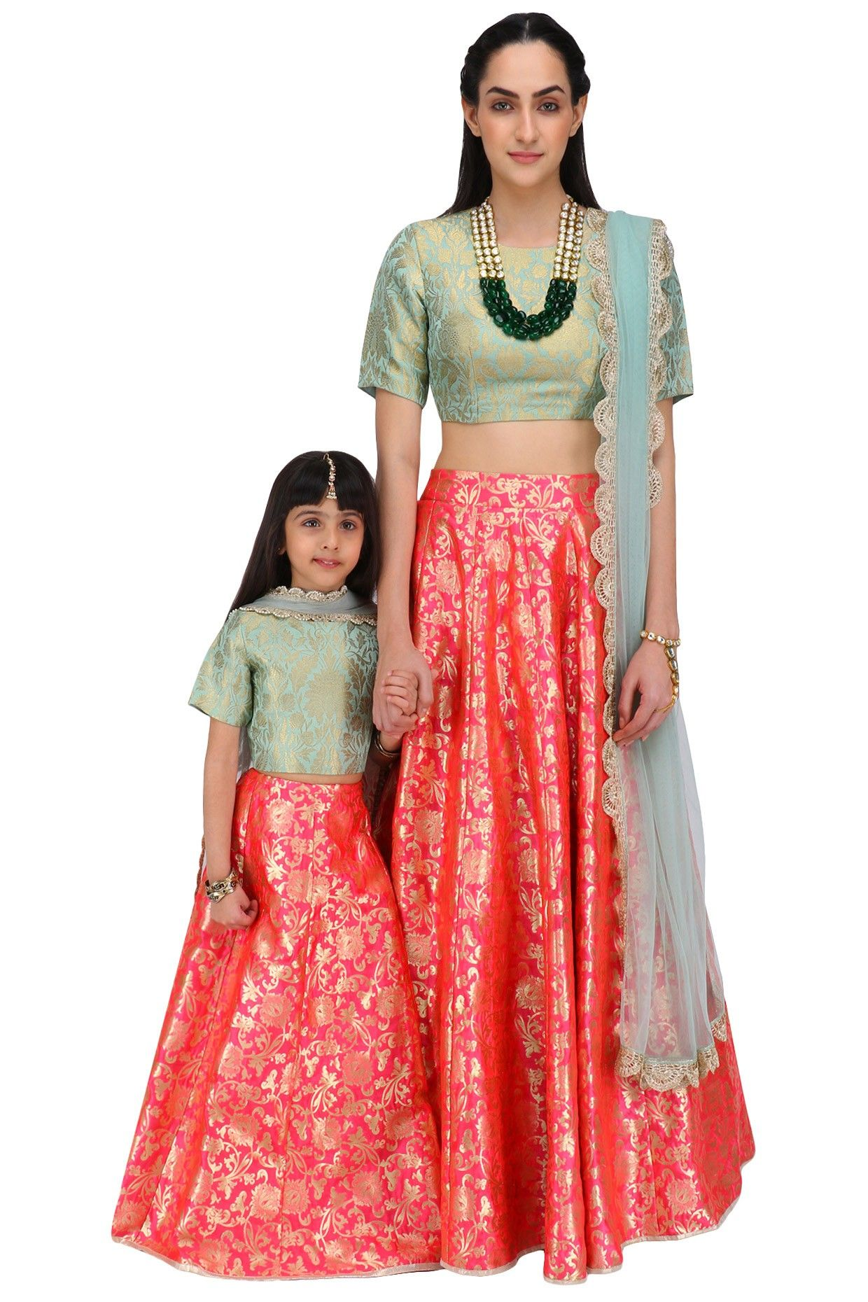 9 Cool Mother Daughter Matching Outfit Ideas Indian