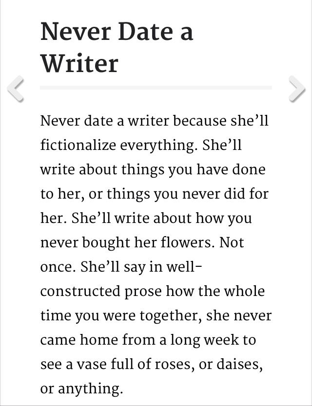 Image result for dating a writer