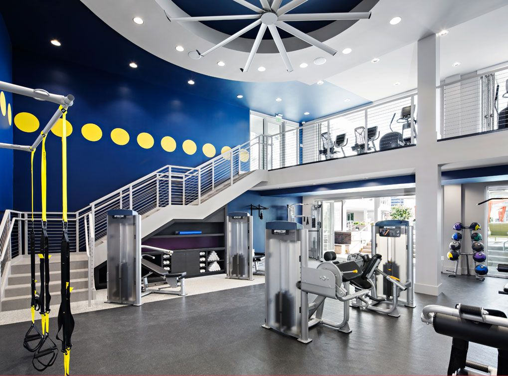 Twostory fully equipped fitness center at AMLI Lex on