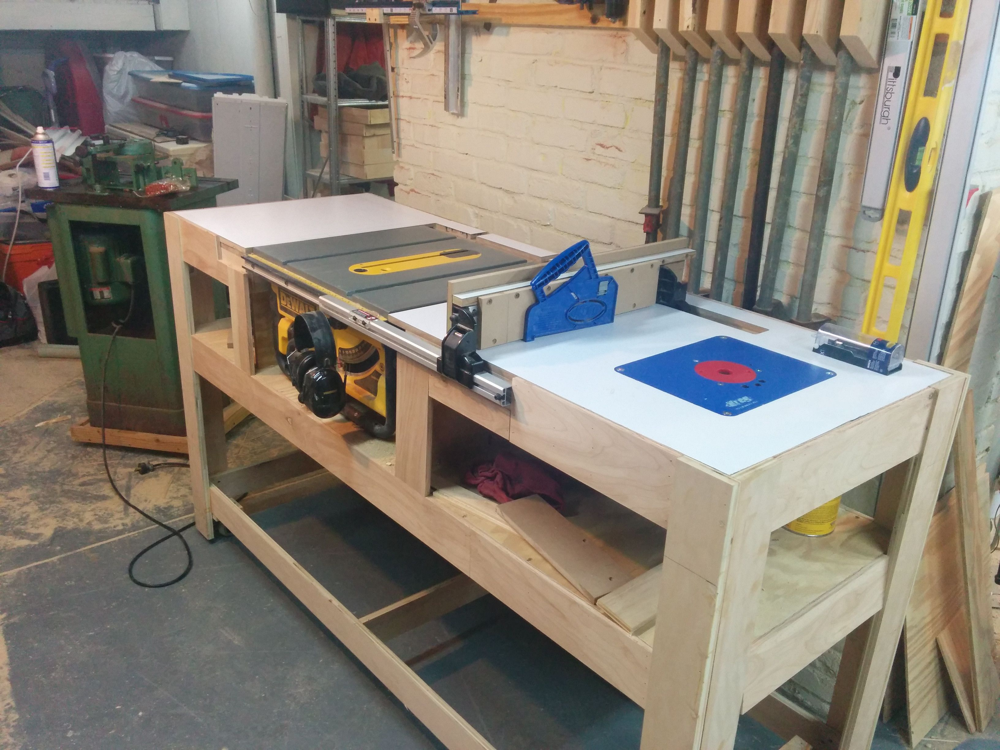 Table saw station Album, Woodworking and Bench