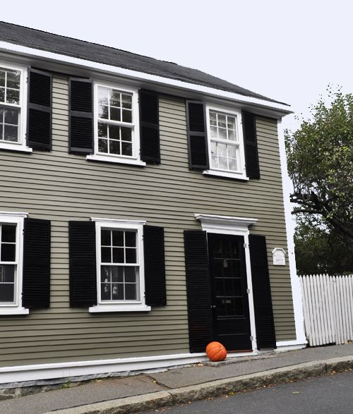 Benjamin Moore Hampshire Gray Exterior House Color Alternative To Red