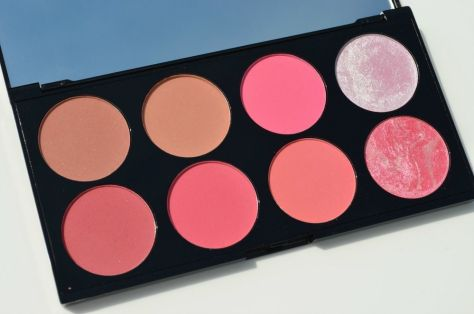 A plusher palette in a varay of pinks and oranges