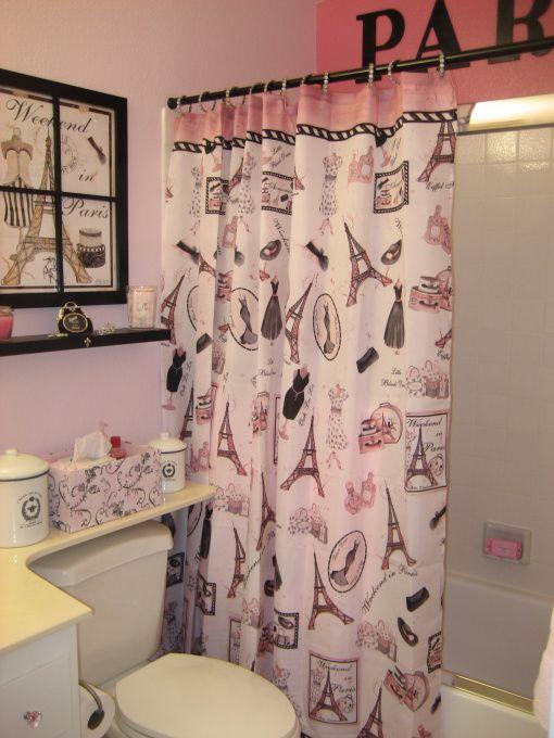 Pink And Black Paris Bathroom Accessories - Bathroom Design