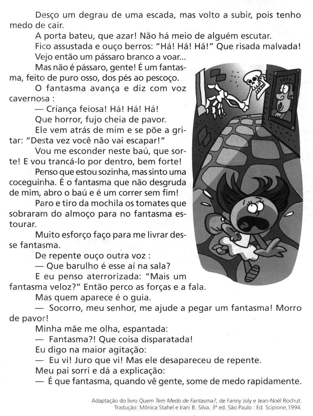 Avaliacoes De Portugues Historia De Terror 4o Ano Do