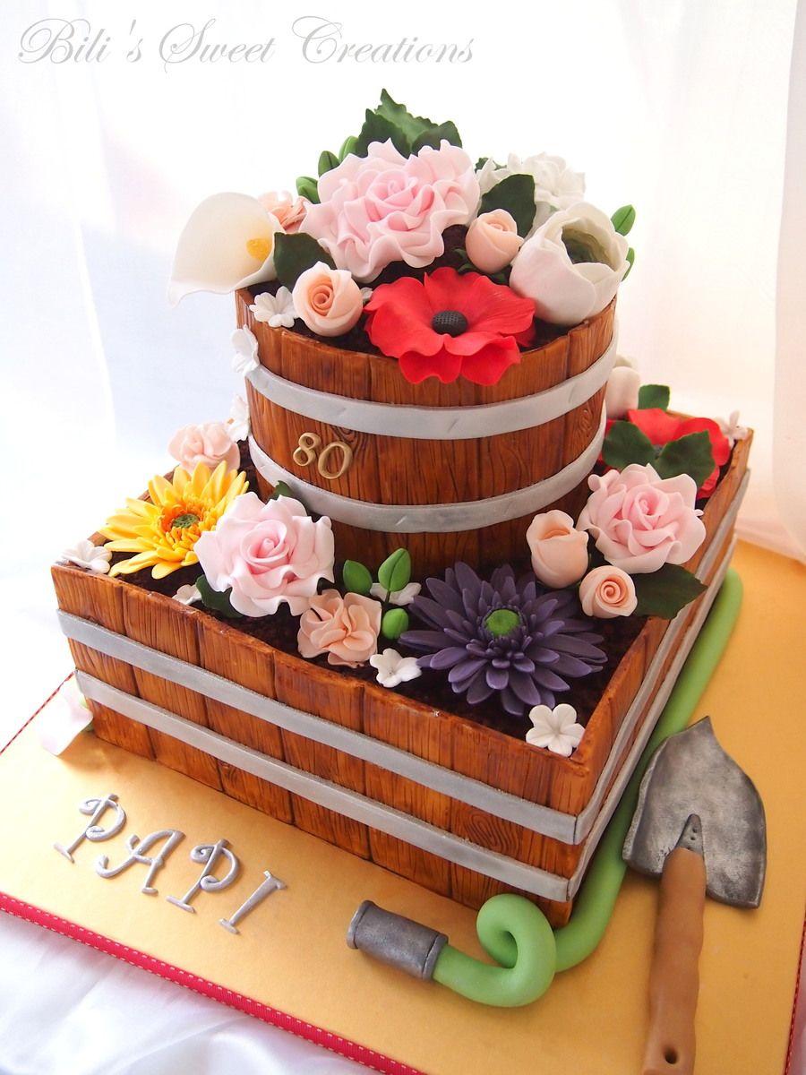 Flower pot cake on Cake Central Garden Pinterest