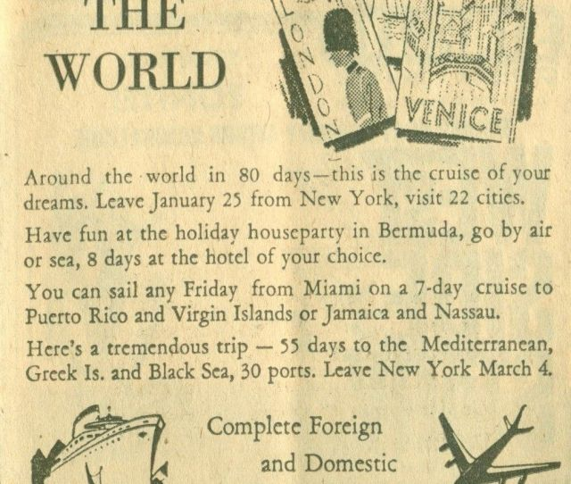 First Bank Travel Department Advertisement Dated August 18 1963