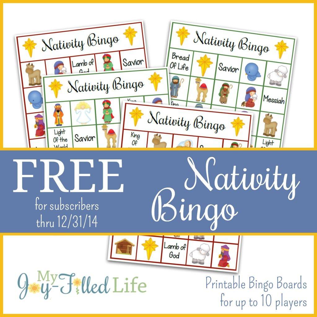 Printable Nativity Bingo