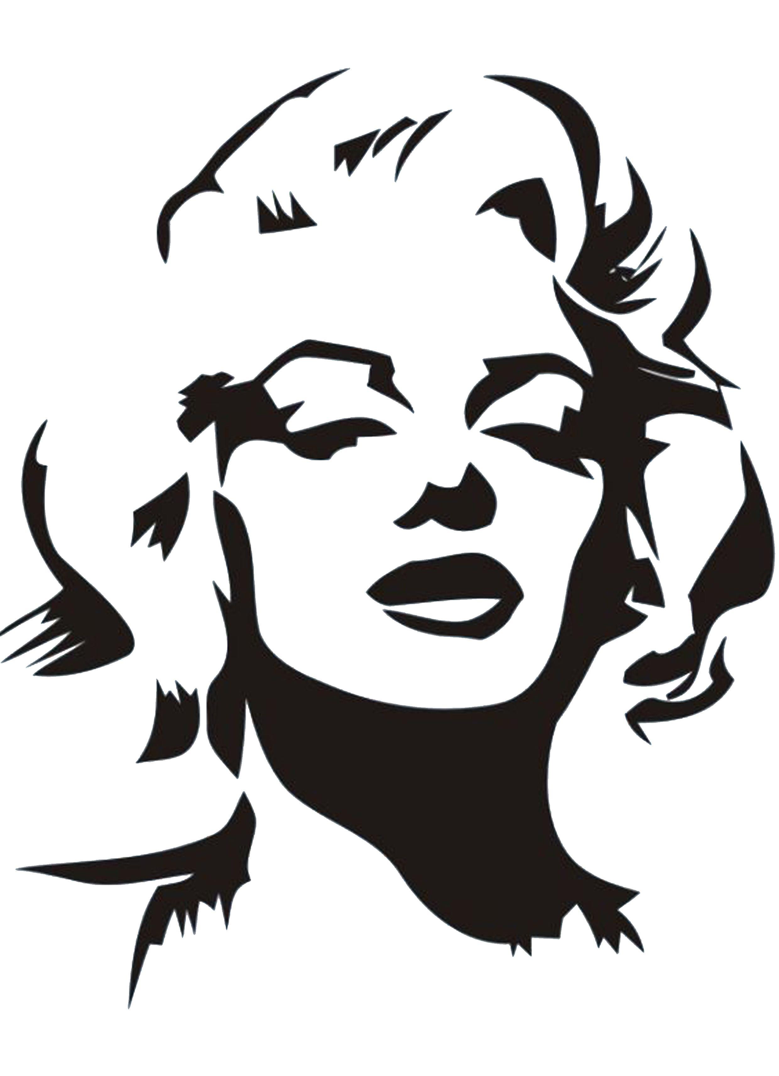 Marilyn Monroe Stencil By Gulcin