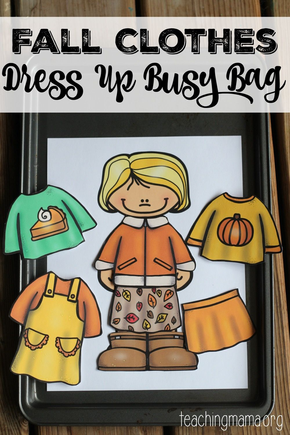 Fall Clothes Dress Up Busy Bag Busy bags, Fall clothes