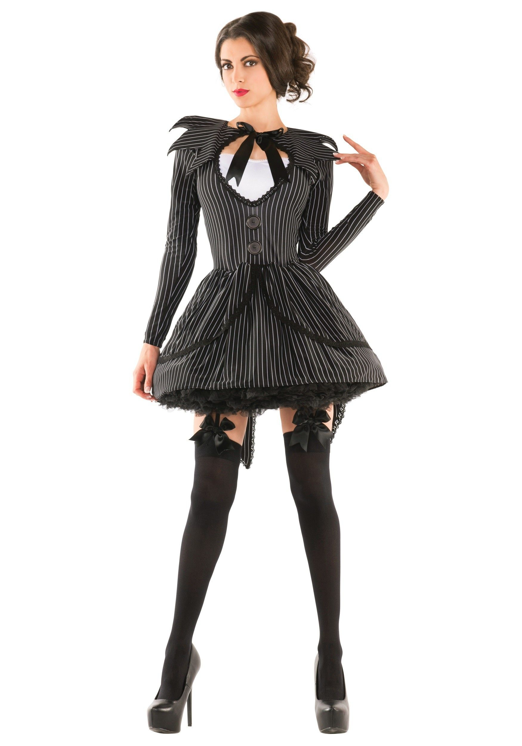 Bad Dreams Babe Adult Costume Genderbend Jack Skeleington
