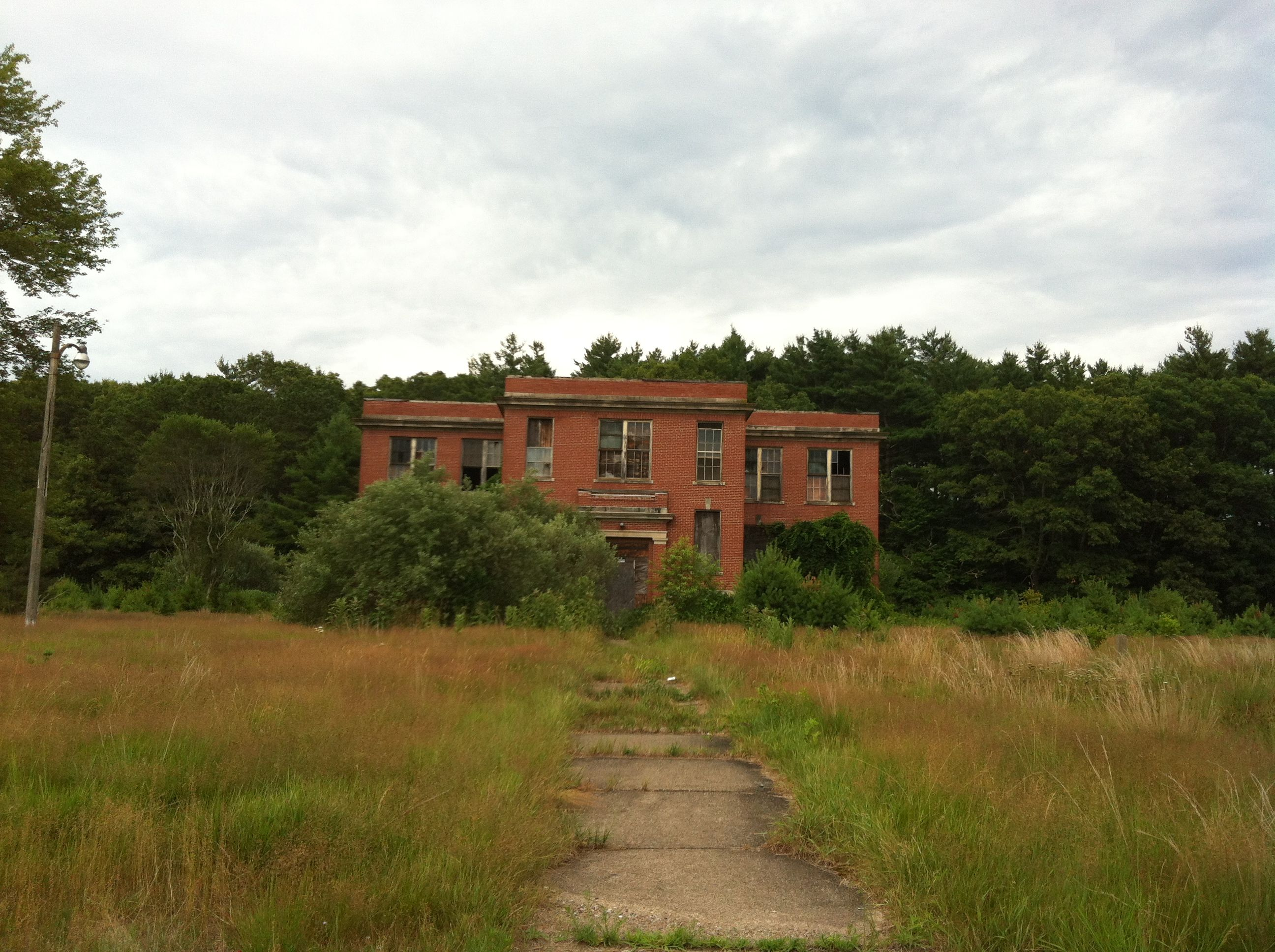 Creepy old Ladd School in Exeter Rhode Island