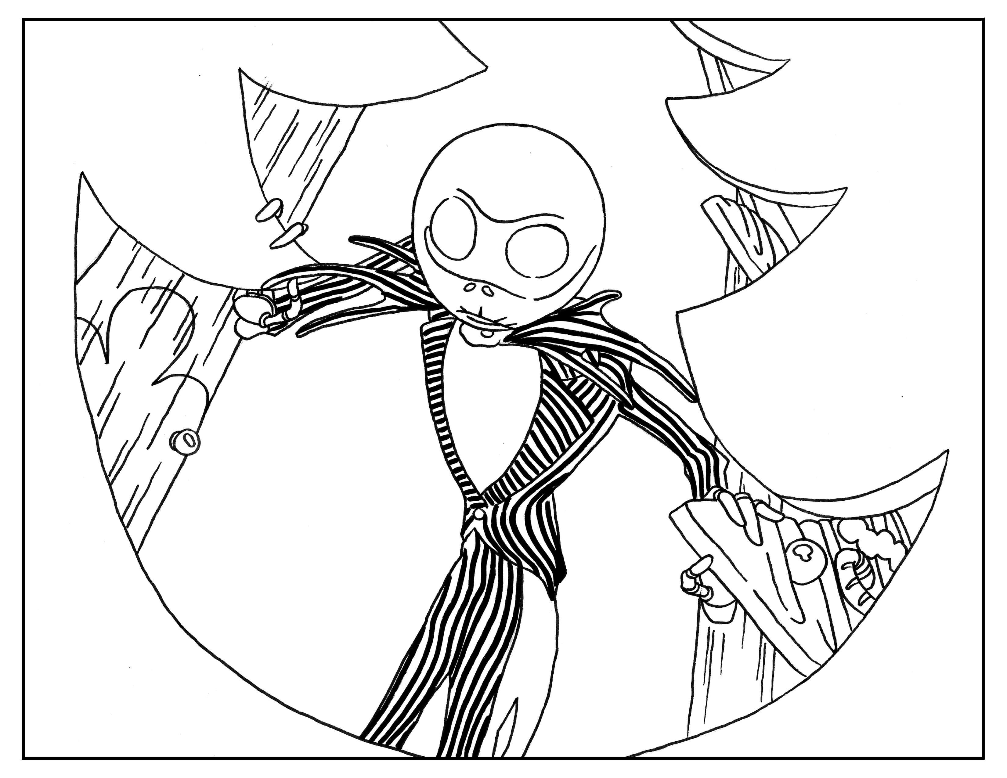 Coloring Page Inspired By Tim Burton S Animation Movie