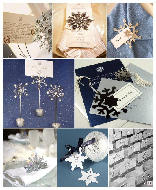 Mariage Hiver Marque Place Flocon Inspiration Mariage D