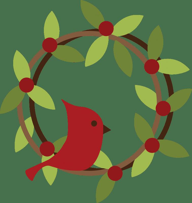 Bird On Wreath SVG File Print and Cut Files Pinterest