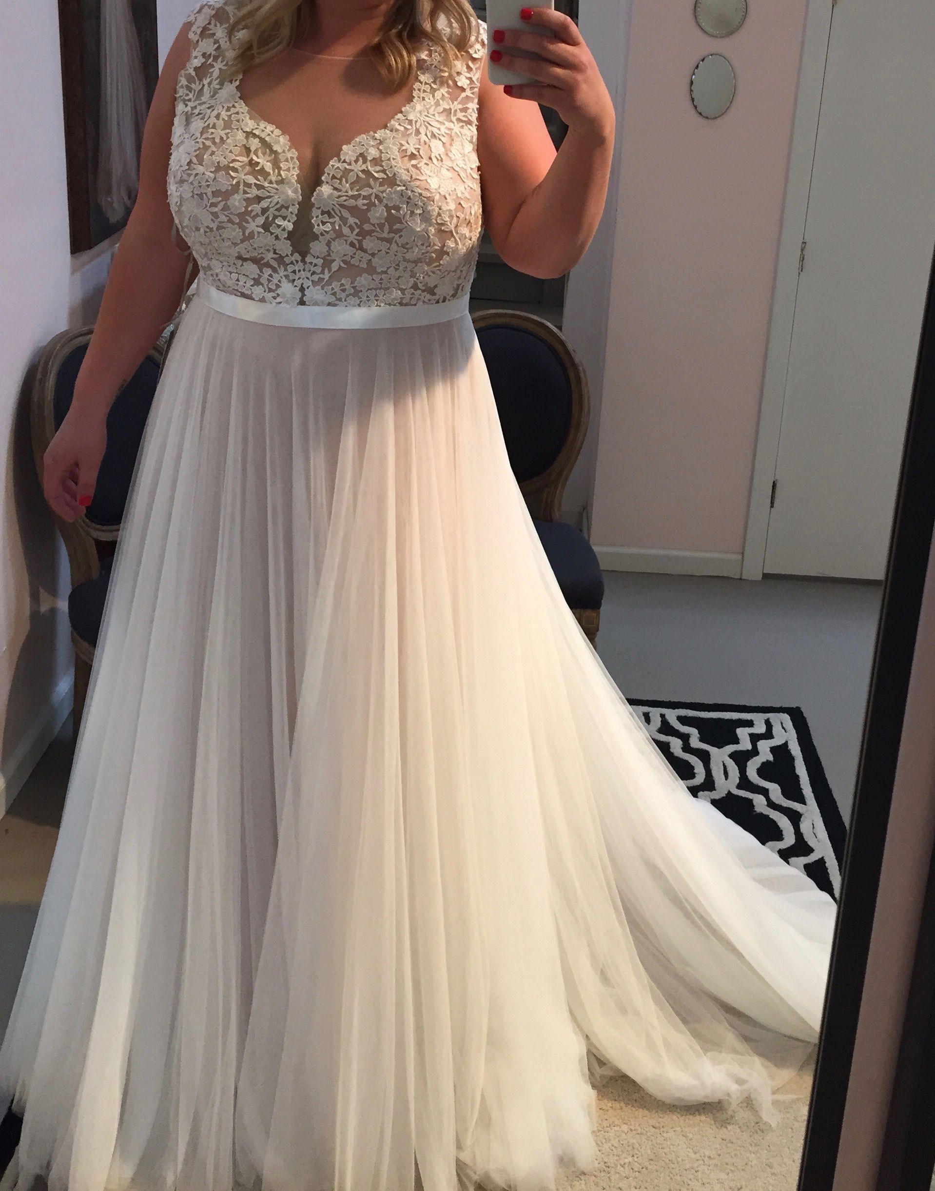 Plus size wedding dress,beach wedding dress Wedding