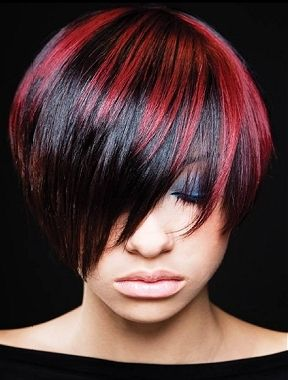 Black hair with bright red highlights the best black hair 2017 best 25 brown to red ombre ideas on like the red highlights w black hair pmusecretfo Images