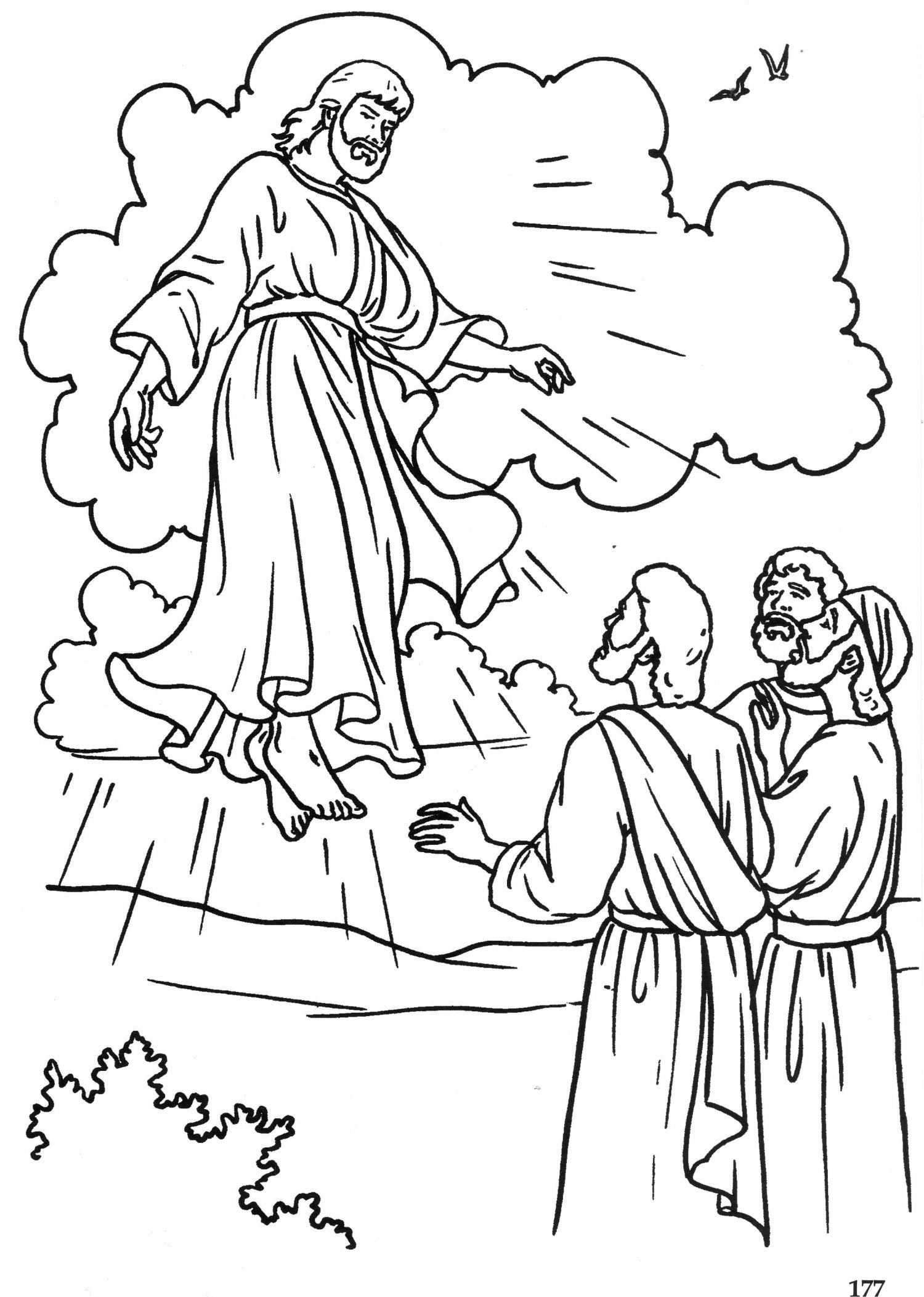 Ascension Of Our Lord Coloring Pages
