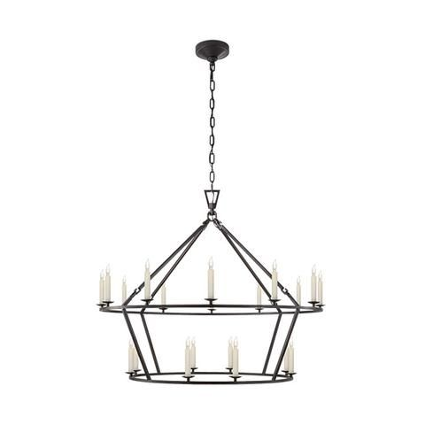 Darlana Large Two Tiered Ring Chandelier