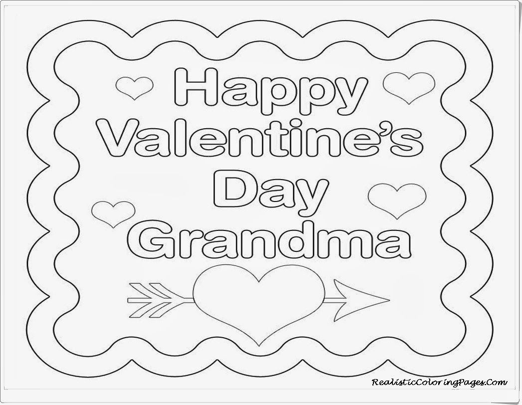 Happy Valentine Card For Grandma Coloring Pages Valentines