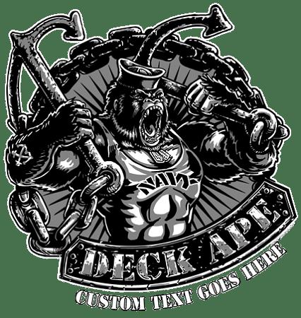 Navy Boatswain's Mate Deck Ape Shirt 19.95 Navy Love