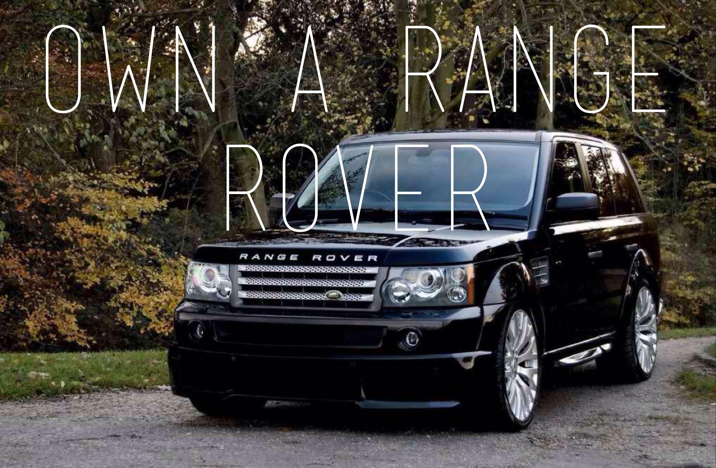 Own a range rover BUCKET LIST Pinterest
