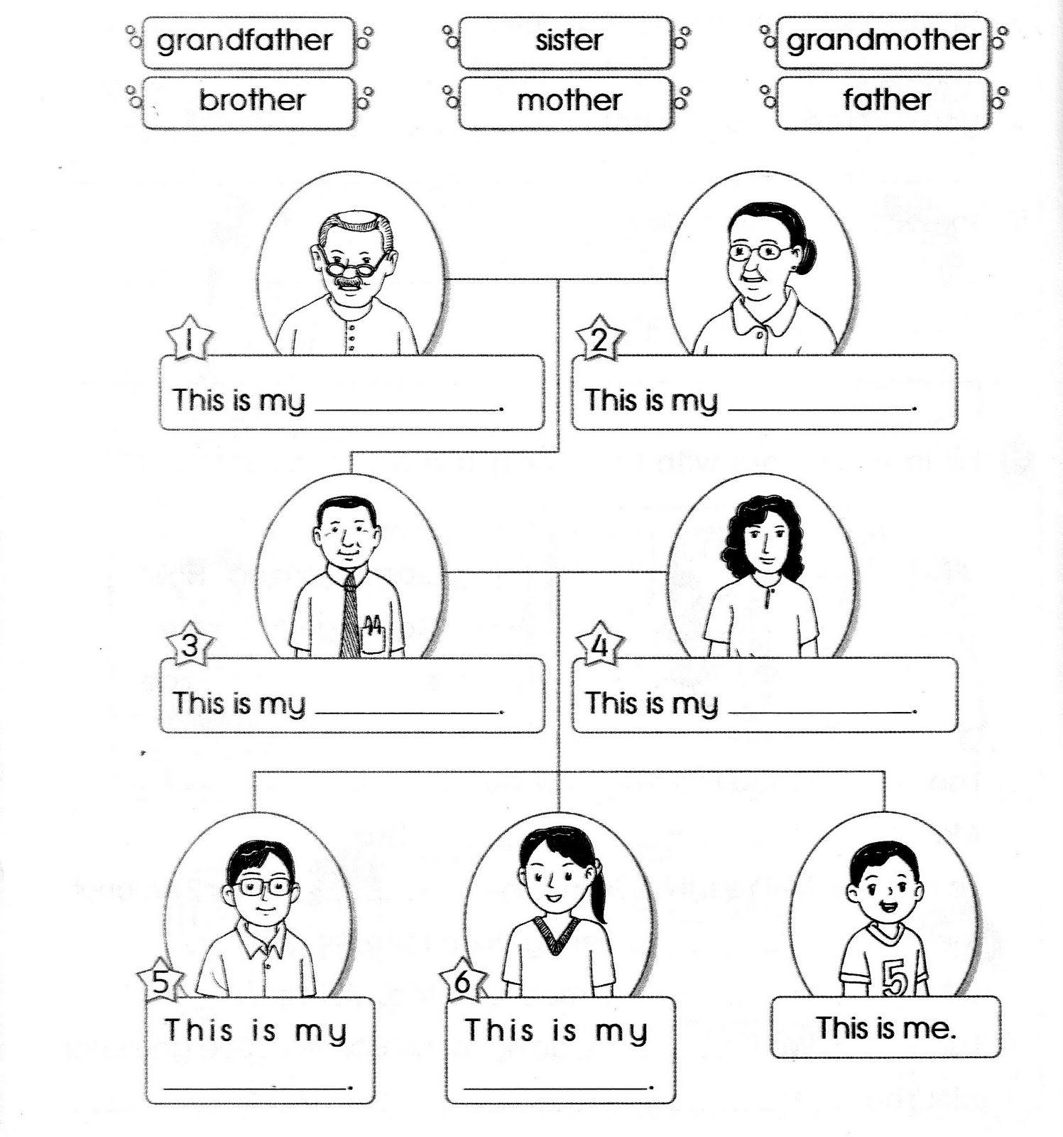 Angli Tina Rodina Pracovni List