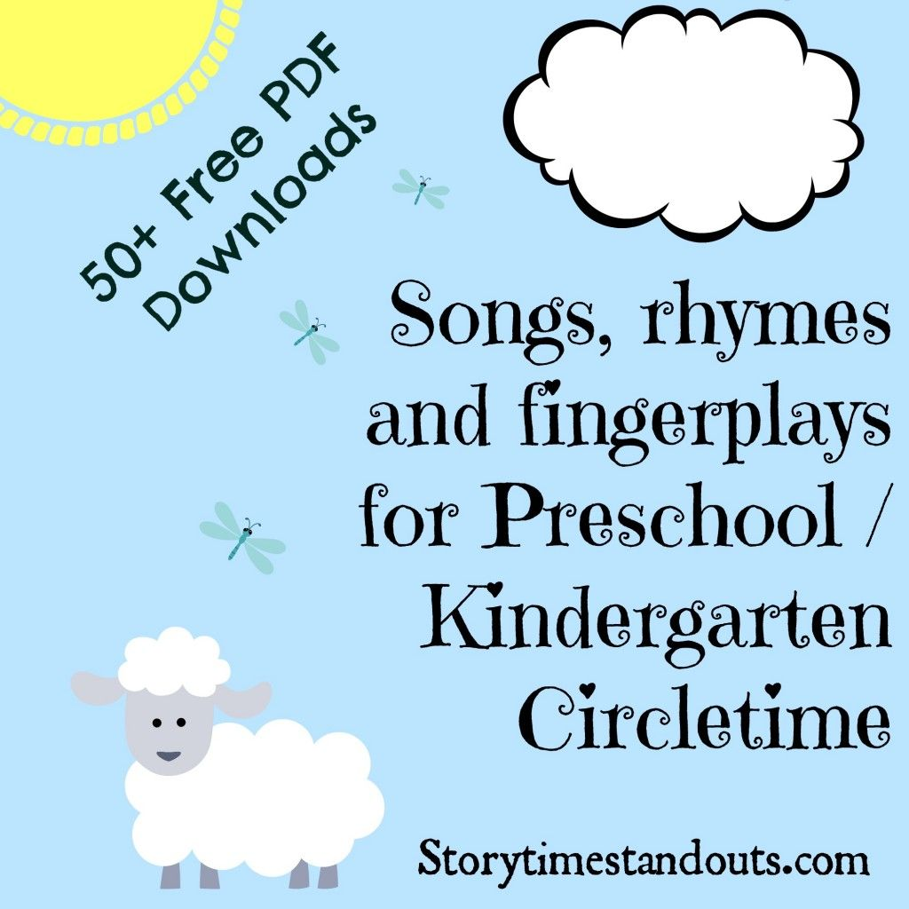 Storytime Standouts Free Printable Songs Rhymes And