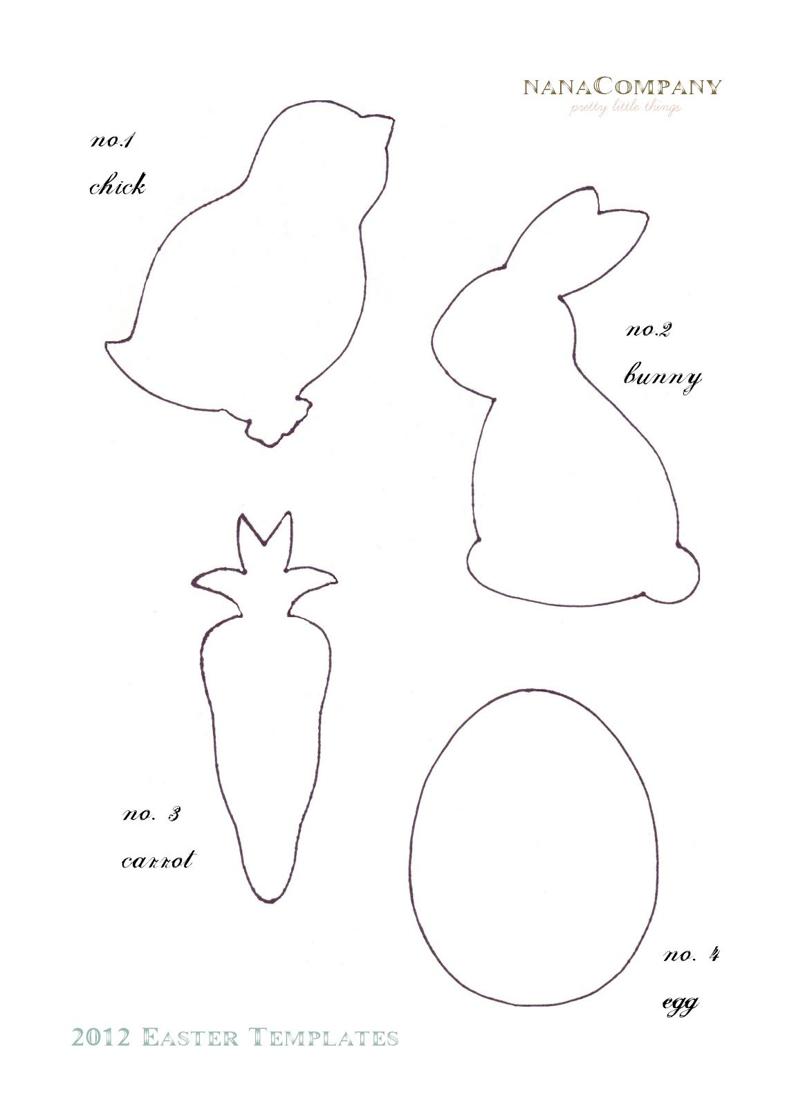 Felt Easter Patterns Free