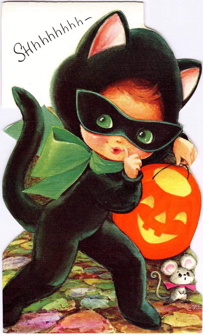 (vintage greeting card) Fall into Halloween! Pinterest