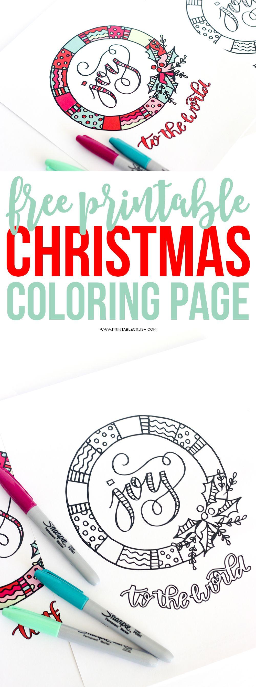 Printable Christmas Coloring Page Christmas print
