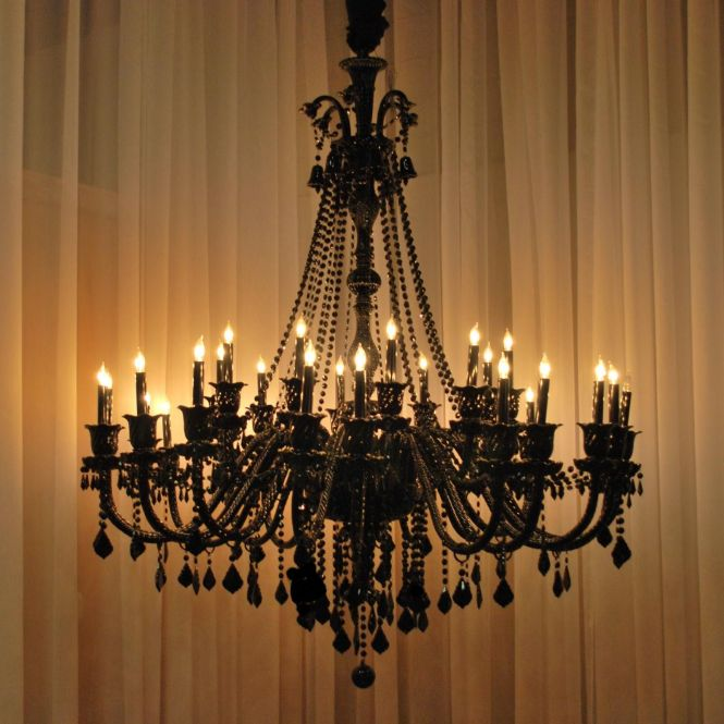 Griffin Trading S Black Murano Glass Chandelier Featured On Dallas Decorum Company