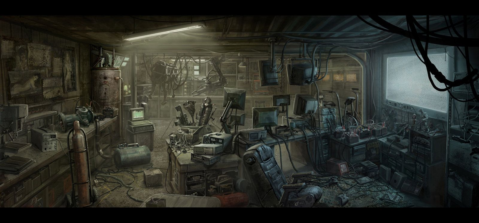 Cinder's mechanic shop Nerdcave, Mac Smith on ArtStation