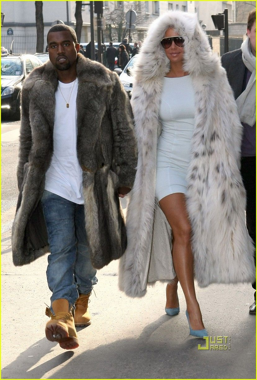 Image detail for fur coats of amber rose and kanye west