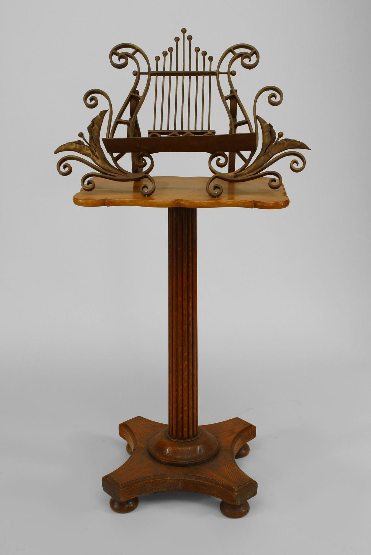 French Victorian Misc Furniture Music Stand Oak