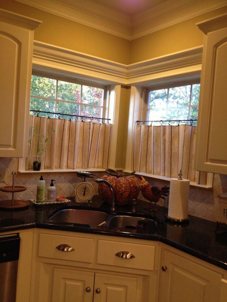 Corner Kitchen Window Treatment Ideas Caf 233 Curtains For