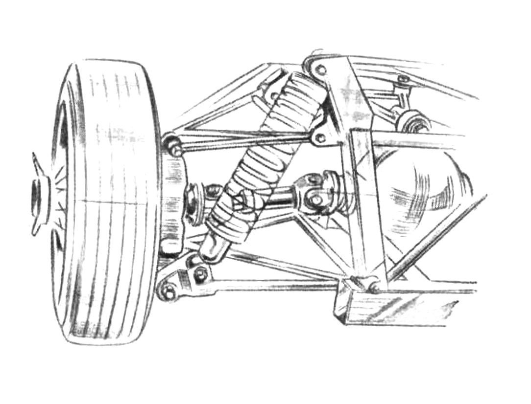 Elva Courier Double Wishbone Independent Rear Suspension