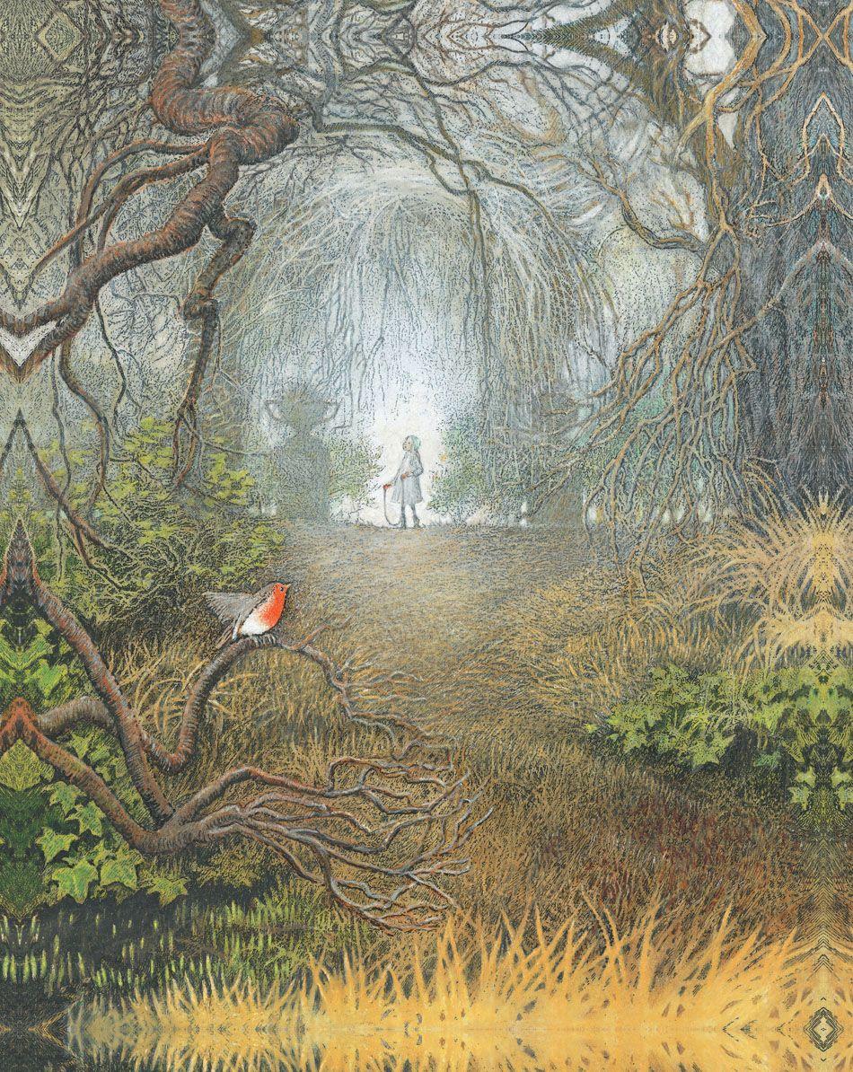 thinkartart Inga Moore i love the secret garden Willo
