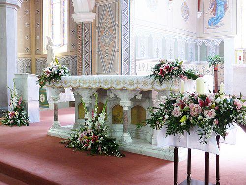 Wedding Church Alter Flowers