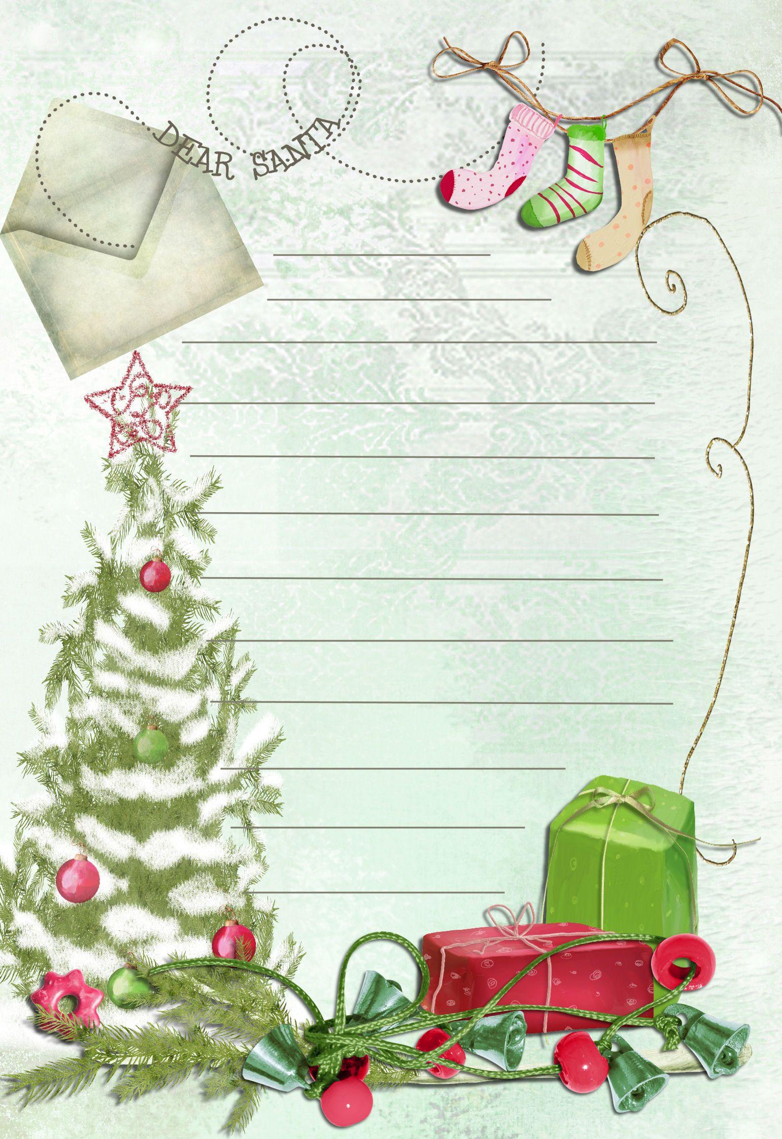 letter template printable to santa Christmas Pinterest