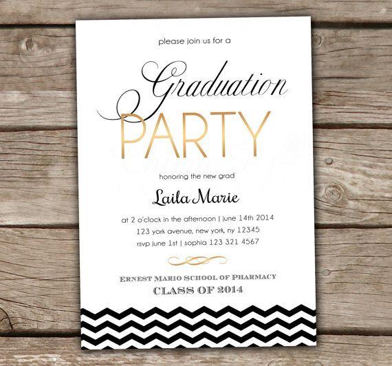 Fun High School Graduation Party Invitation Wording – High School Graduation Party Invitations