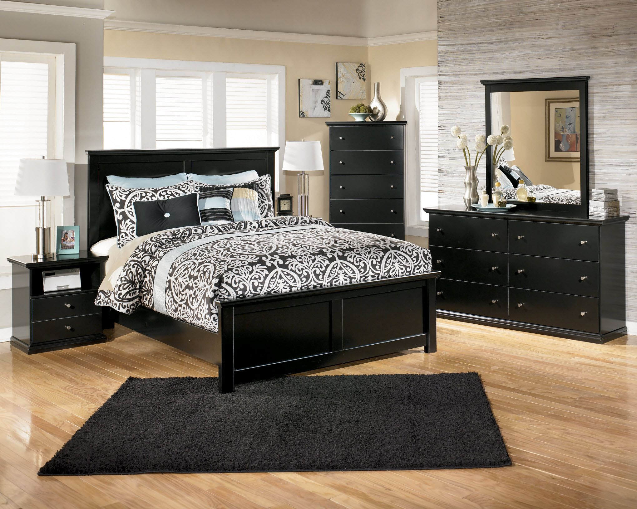 15 cool black bedroom furniture sets for bold feeling | bedrooms