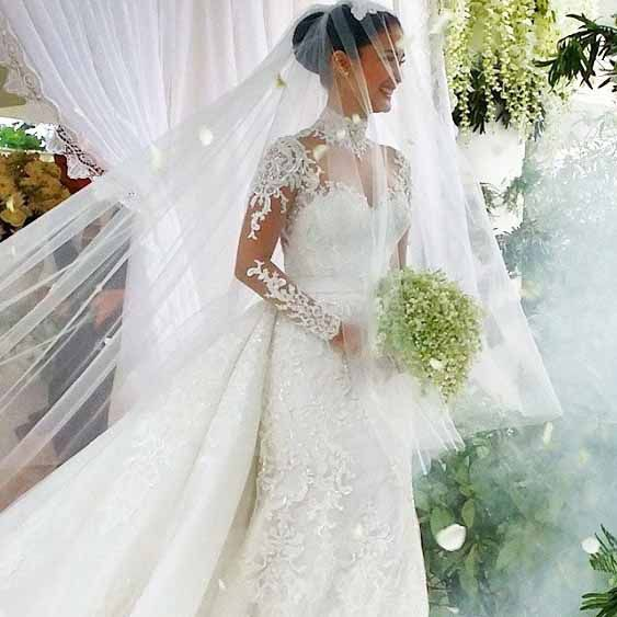 In Focus Heart Evangelista In Her Wedding Dress CHISMS