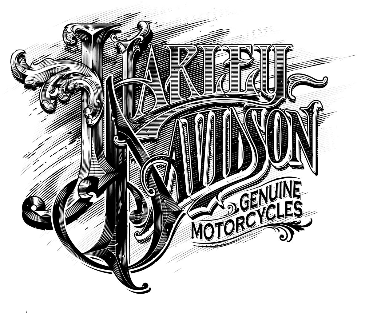 Harley Davidson by Abraham García Lettering