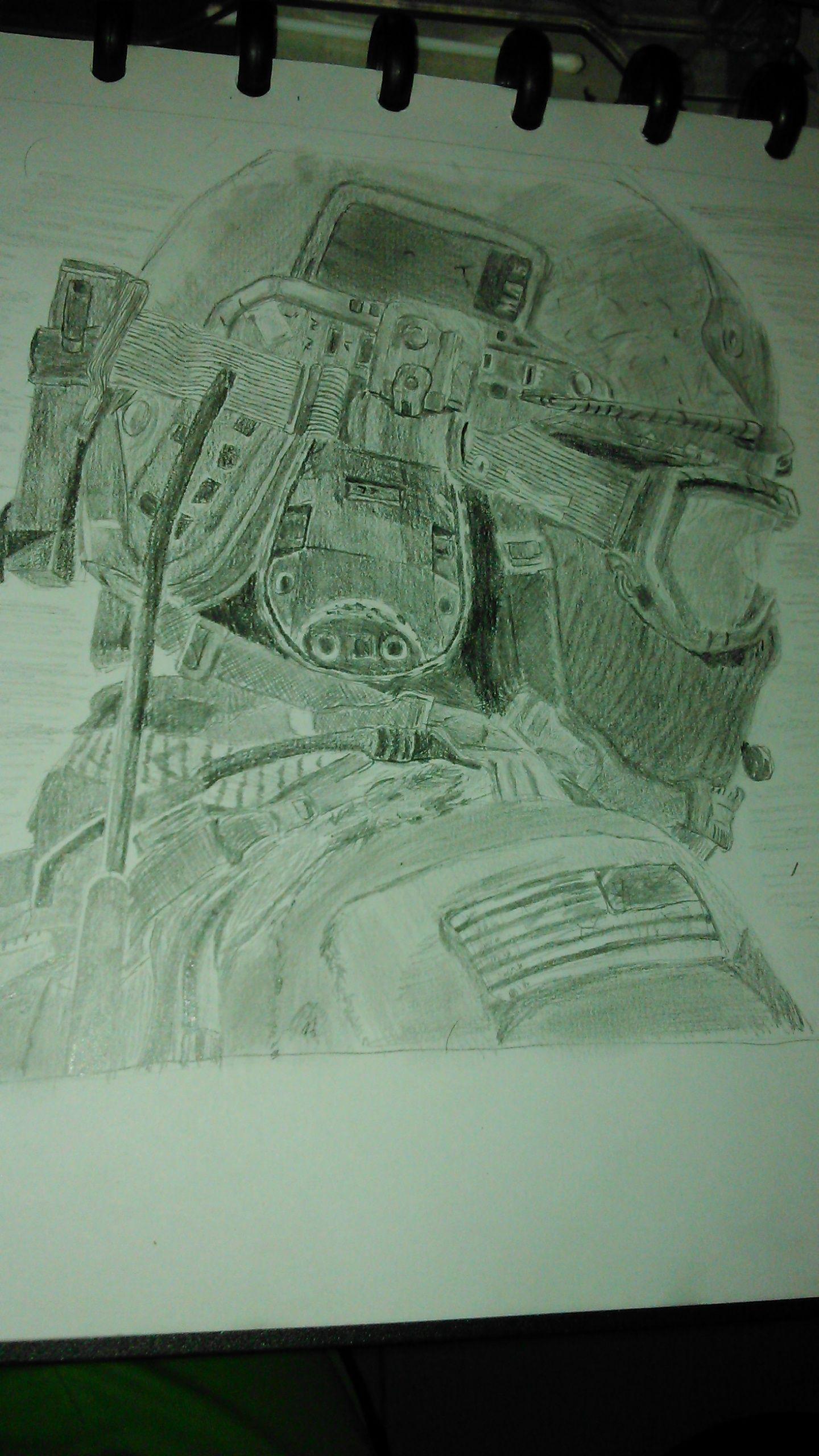 Call Of Duty Sol R Pencil Sketch Drawing