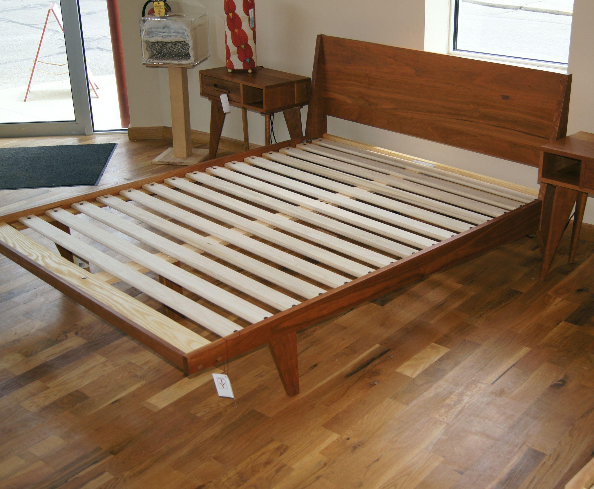 "Modern ""ONE"" Platform Bed Mid Century Solid Wood Handmade"