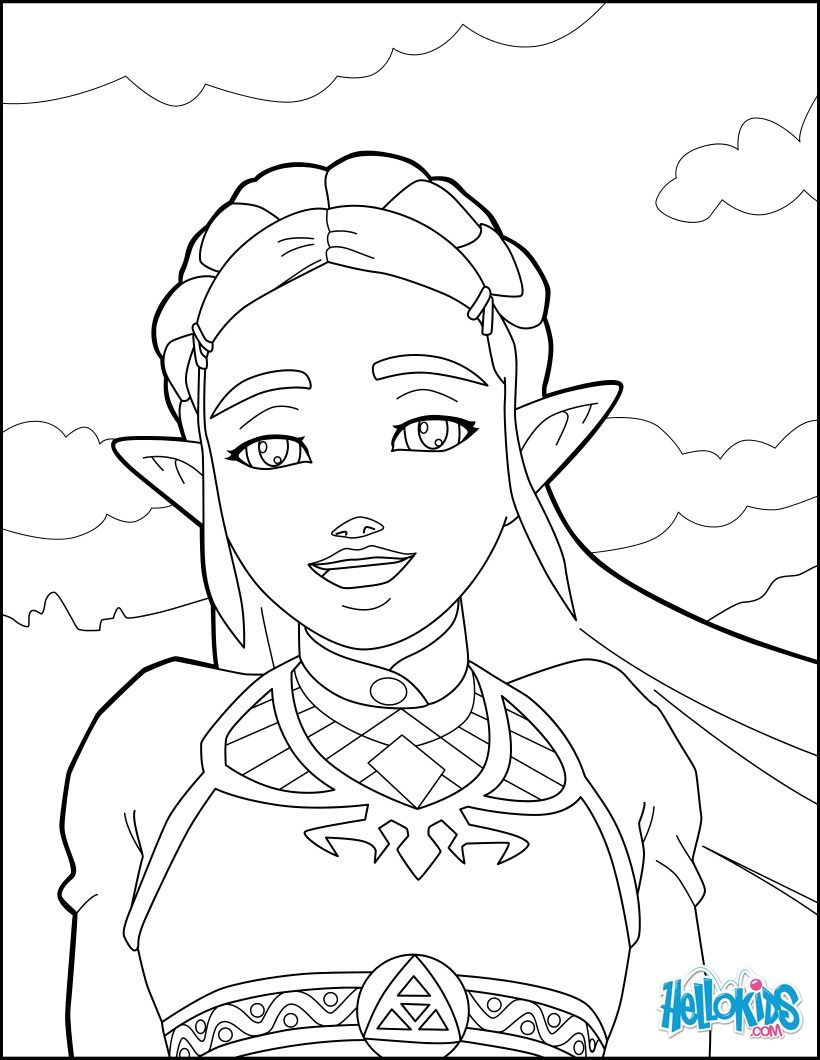 zelda coloring page from the new zelda games. more video